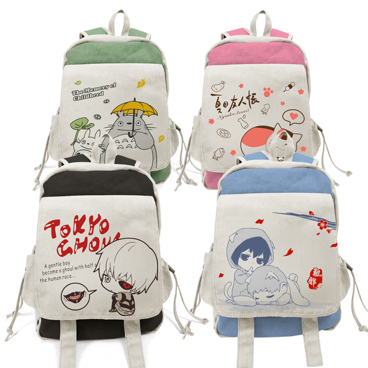 Anime Totoro Tokyo Ghoul Backpacks Shoulder Bag Cool Children Rucksack Casual School Bag Bookbag For Teenage Girls Mochila