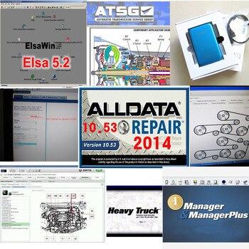 2017 Alldata 10.53 all data auto repair software alldata mitchell on demand 2015+manager+heavy truck+vivid workshop 49in 1tb hdd