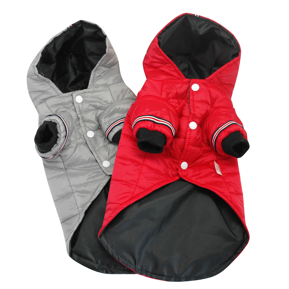 Warm Dog Jacket with Hoodie Made of Soft Polyester to Protect Dogs from Cold 1
