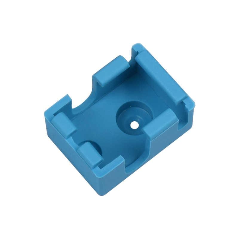 1 PC V6 de silicona calcetines ajuste a la Original V6 de Reprap calentador de bloque de aislamiento de silicona para 3D impresora partes