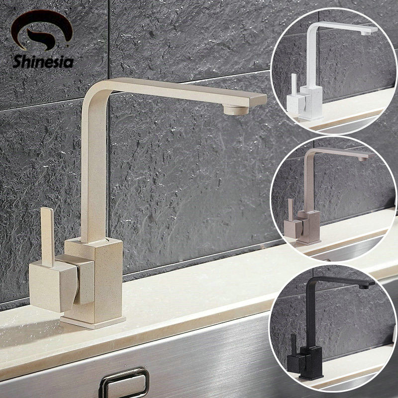 Solid Brass Kitchen Sink Faucet Single Handle Single Hole Mixer Tap with Hot and Cold Water Crane Deck Mount стоимость