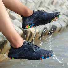 TIOSEBON Unisex Sneakers Water Shoes Men Barefoot Outdoor Beach Five Fingers Breathable Quick Dry River Sea Diving