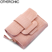 OTHERCHIC Designer Women Short Clutch Alligator Wallets Ladies Small Wallet Coin Pocket Women Female Purse Money Clip 6N07-05