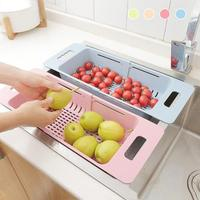 1PC Kitchen Scalable Rack Drain Rack Wheat Straw Dish Cutlery Drainer Drying Holder For Fruits Vegetable