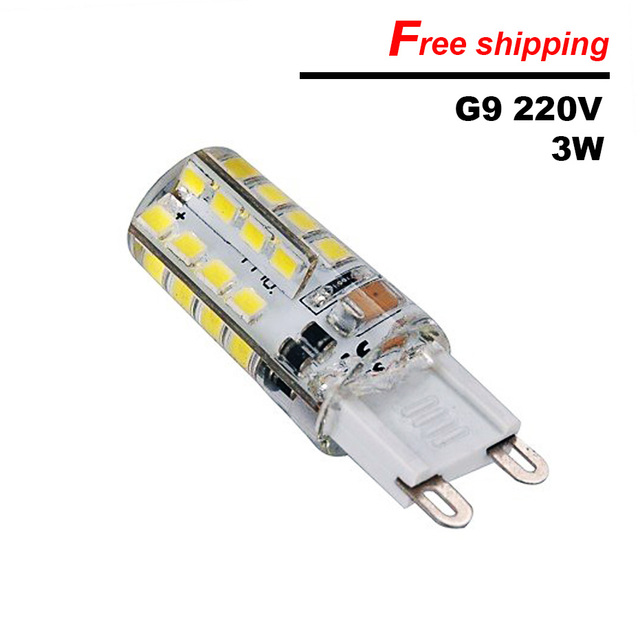 Ultra bright G9 led corn lamp AC220V 3W SMD2835 LED Crystal ...