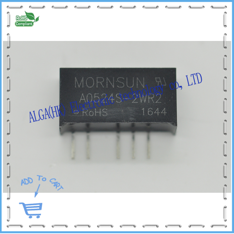 A0524S-2WR2 converter 5V to dual 24V 2w isolated dc-dc power supply .