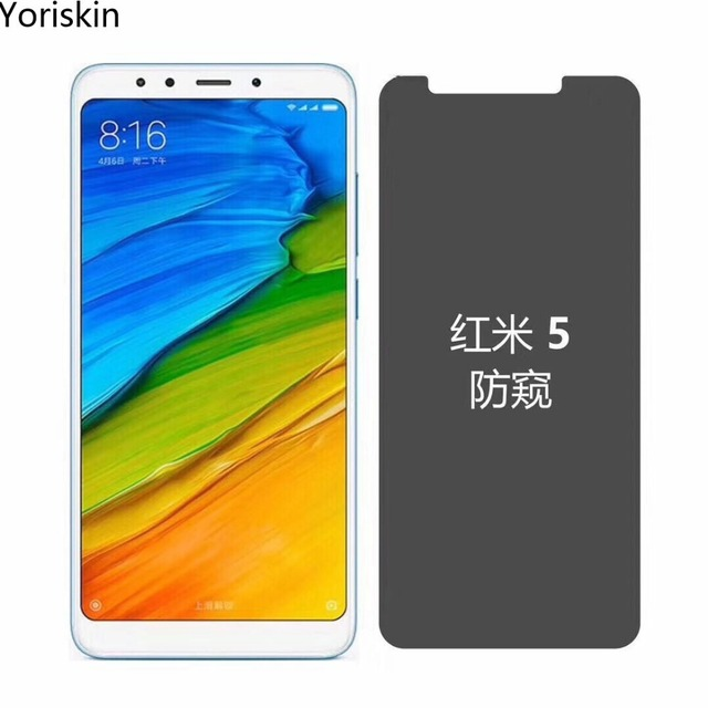 03mm 25D Privacy Tempered Glass Screen Protector For Xiaomi Redmi Note 5 Pro 9H