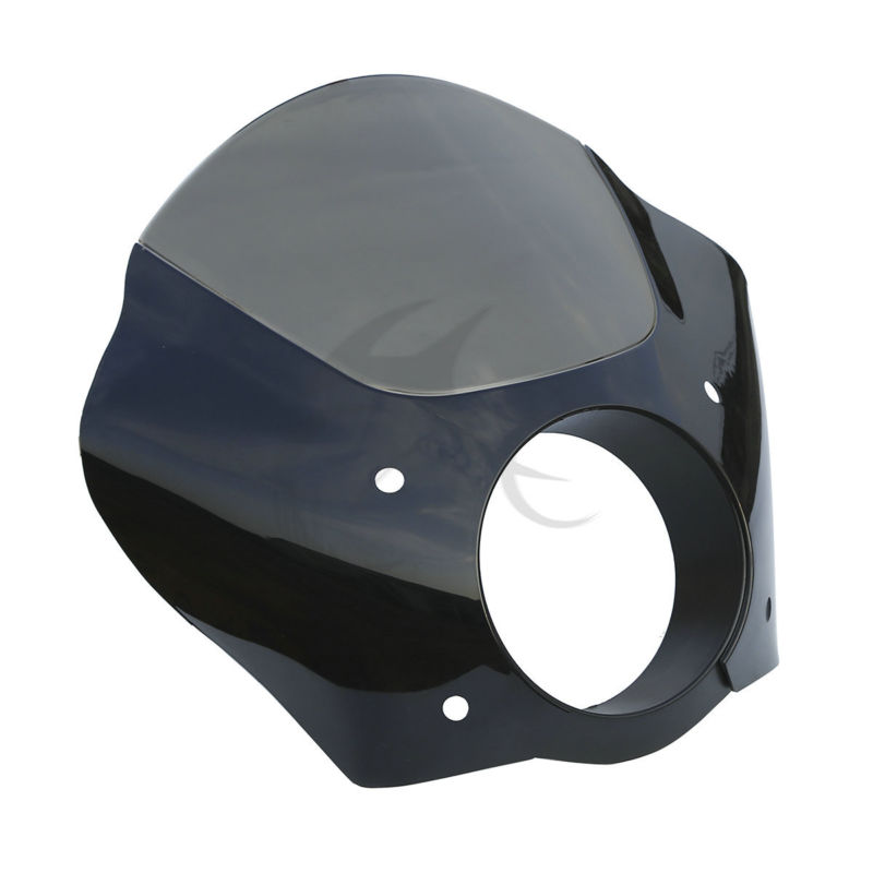 Black Smoke Gauntlet Headlight Fairing Mask For Harley Sportster XL 883 72 FXDB FXDL FXD FXDC Street XG 500 750 FXD FXDC tcmt motorcycle 49mm gauntlet fairing lock mount kit for harley dyna super glide low rider street bob custom fxd fxdc fxdl fxdb