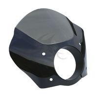 Black Smoke Gauntlet Headlight Fairing Mask For Harley Sportster XL 883 72 FXDL FXD FXDC Street