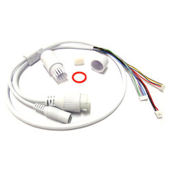 Waterproof POE LAN cable for CCTV IP camera board module with weatherproof connector