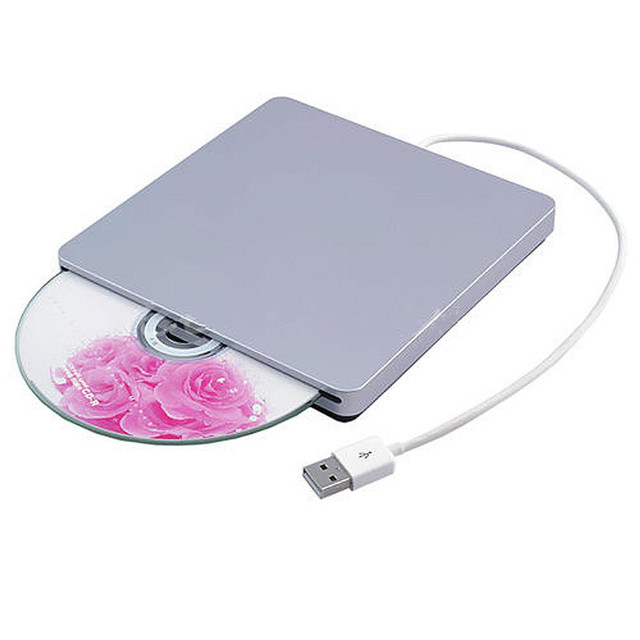 Brand New USB Externo CD RW DVD Rom Player Burner para macbook air pro para imac para mac win8 laptop notebook PC