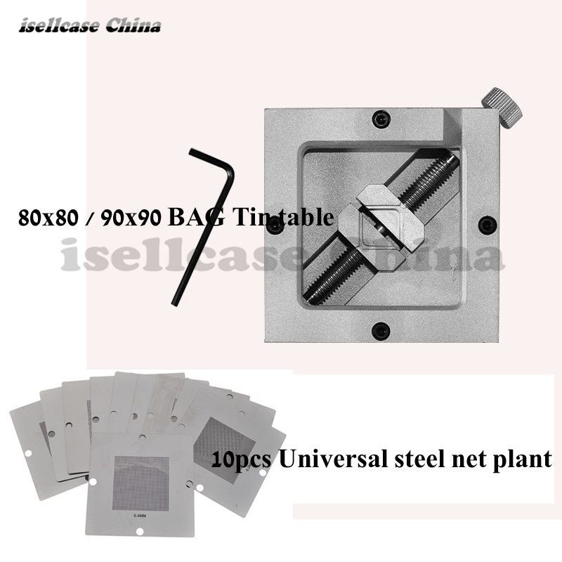 Wozniak BGA planting tables XBOX fixed bumping fixture 80*80MM 90x90mm bga rework station working for Mobile iPhone PDA Repair wozniak mobile phone maintenance clamp for iphone bga chip motherboard fixture location remove glue tin plant fixed clamp