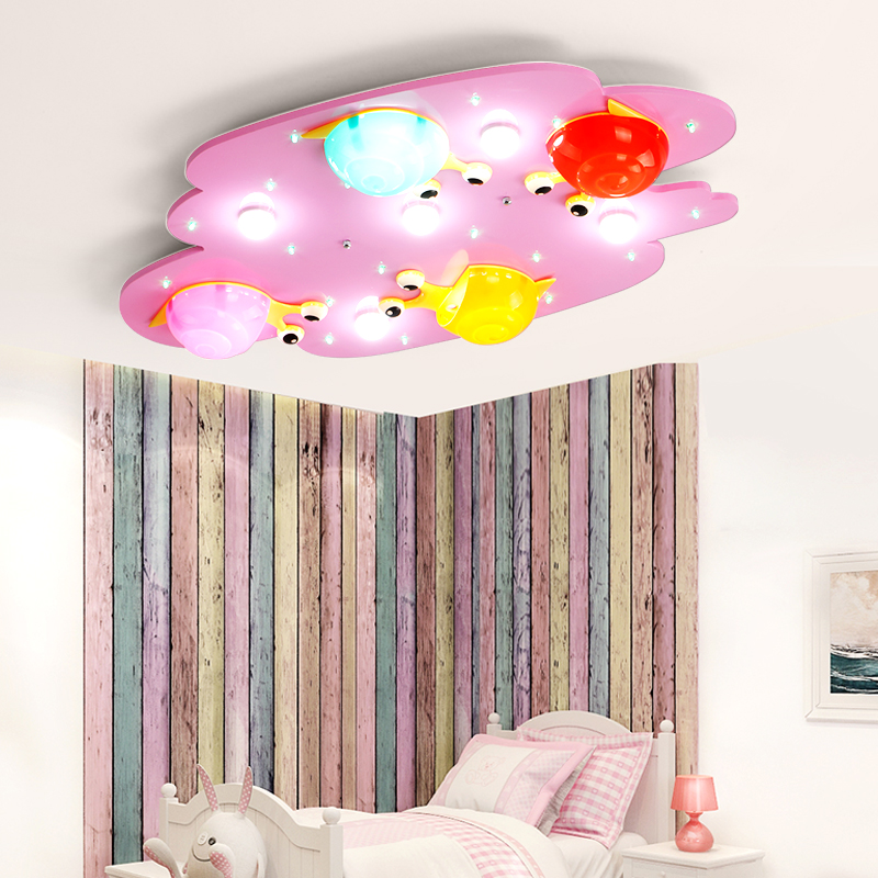 Cartoon colorful snail kids room lighting ceiling lamp girl and ...
