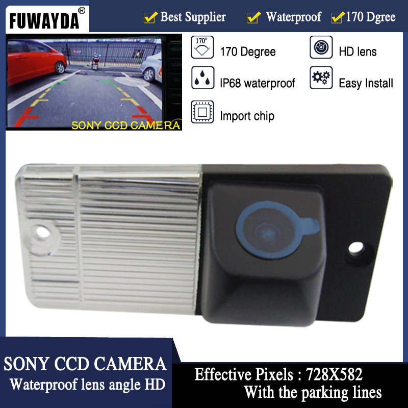 FUWAYDA SONY CCD Chip Sensor Car Rear View Reverse Backup Mirror Image CAMERA for KIA SPORTAGE SORENTO With Guide Line HD image