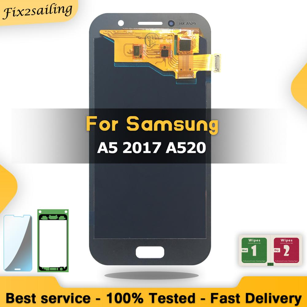 Super AMOLED Lcd Display For Samsung Galaxy A5 2017 Display A520 A520F A520F/DS LCD Screen Replacement Digitizer Assembly Tested