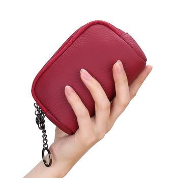 Fashion Women Coin Purse Genuine Leather Wallet Multi Functional Zipper Card Carteira Feminina