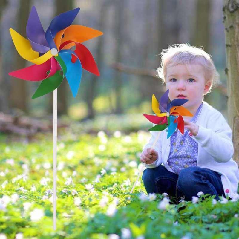 Envío Directo jardín patio fiesta Camping molino viento Spinner ornamento decoración infantil de juguetes nuevo