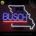 Неоновая вывеска для Busch Beer Missouri неоновая трубка винтажный Мопс бизнес знак лампа ручной работы магазин отображает подарки свет фонарик зна...