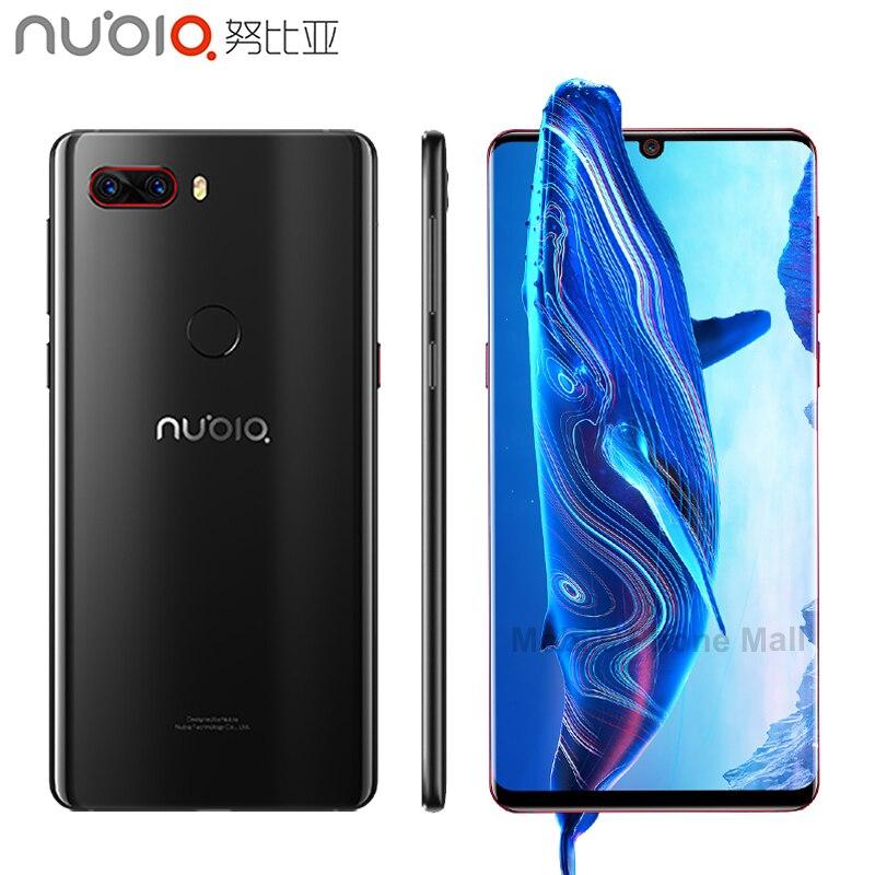 Оригинальный Нубия Z18 мобильный телефон 5,99 6 ГБ Оперативная память 64 ГБ Встроенная память Snapdragon 845 Octa Core Android 8,1 3450 мАч капли воды Экран смартф