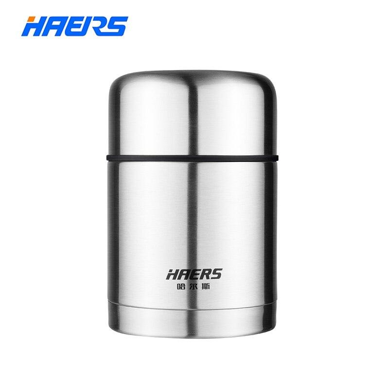 HAERS 600 ml 750 ml Lebensmittel Thermos Silber Grün Blau Rot Weiß Thermische Lunchbox Lebensmittelbehälter