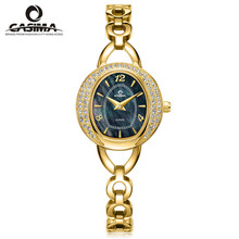 Relogio feminino marca de Lujo relojes de Moda relojes de las mujeres reloj de cuarzo ocasional de moda a prueba de agua 50 m CASIMA #2616