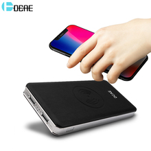 DCAE 10000mah Power Bank External Qi Wireless Charger Battery Powerbank Portable Mobile Phone for iPhone X 8 Plus Samsung S9 S8
