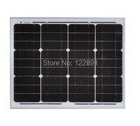 Alta calidad 30 w 18 v monocristalino panel solar utilizado para 12 v sistema casero de energía fotovoltaica diy solar al por mayor 10 unids/lote