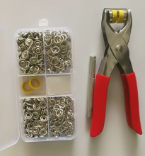 1pc Plier Tool +100 Sets Silver 9.5mm Metal Prong Snap Buttons Fasteners Press Studs Poppers Baby Romper Buckle Snap+1 Box