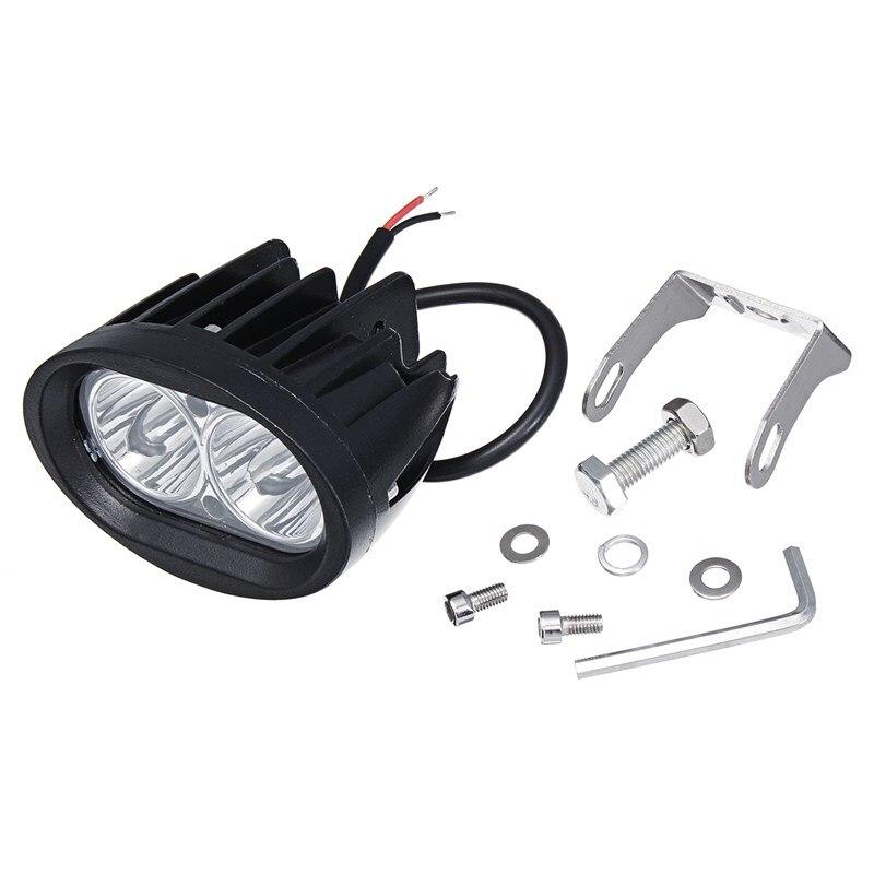 20W LED Spot Work Light Car SUV Fog Lamp Warning Emergency Light White 6000K Auto Spot Work Lamp Car Motorcycle LED Spot
