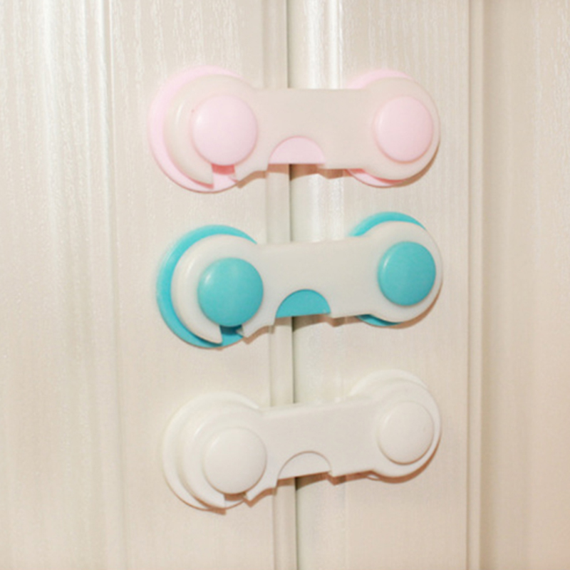 10 Pcs Baby Drawer Lock Todder Child Kids Door Drawers Wardrobe Cabinet Safety Care Protect Plastic  YYT204