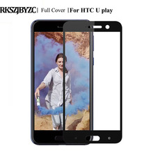 RKSZJBYZC 9H Colourful Premium Full Cowl Tempered Glass for HTC U Play Uplay Display Protector Explosion Proof Glass Movie