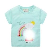 girls cartoon t shirts embroidery fashion cotton children short sleeves baby shirt hot selling kids