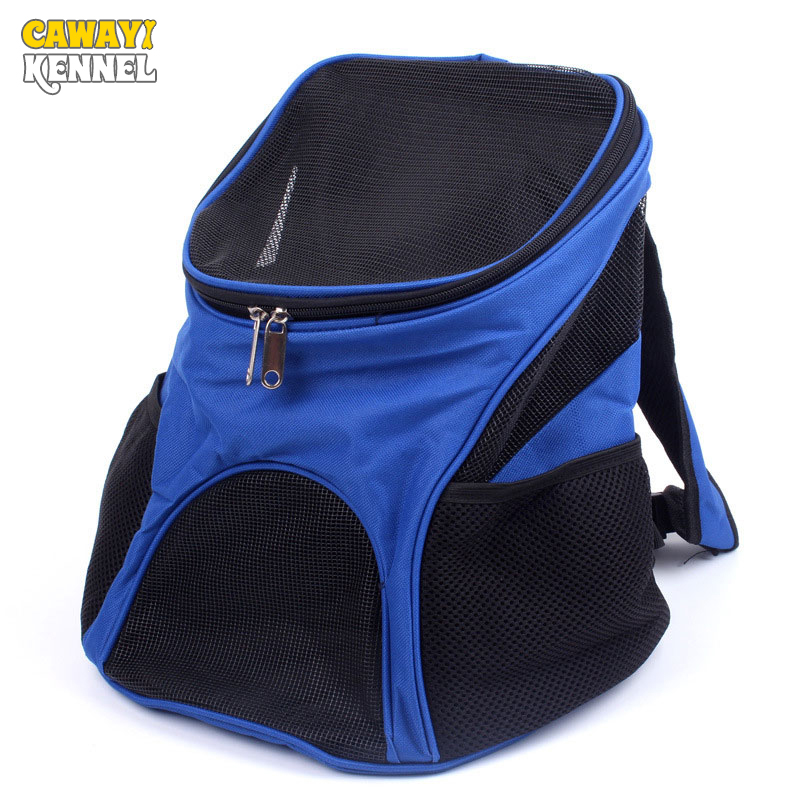 CAWAYI KENNEL Portable Breathable Mesh Oxford Pet Carriers Backpacks Shoulder Bag Small Dog Cat Outdoor Travel Carrier Bag D1080