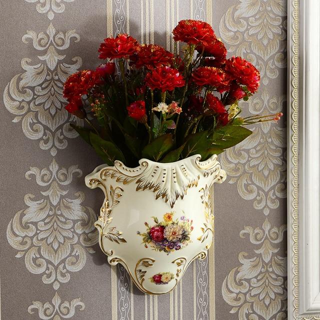 Yolife Vintage Ceramic Wall Vase Flower Hanging Vase Accessories For