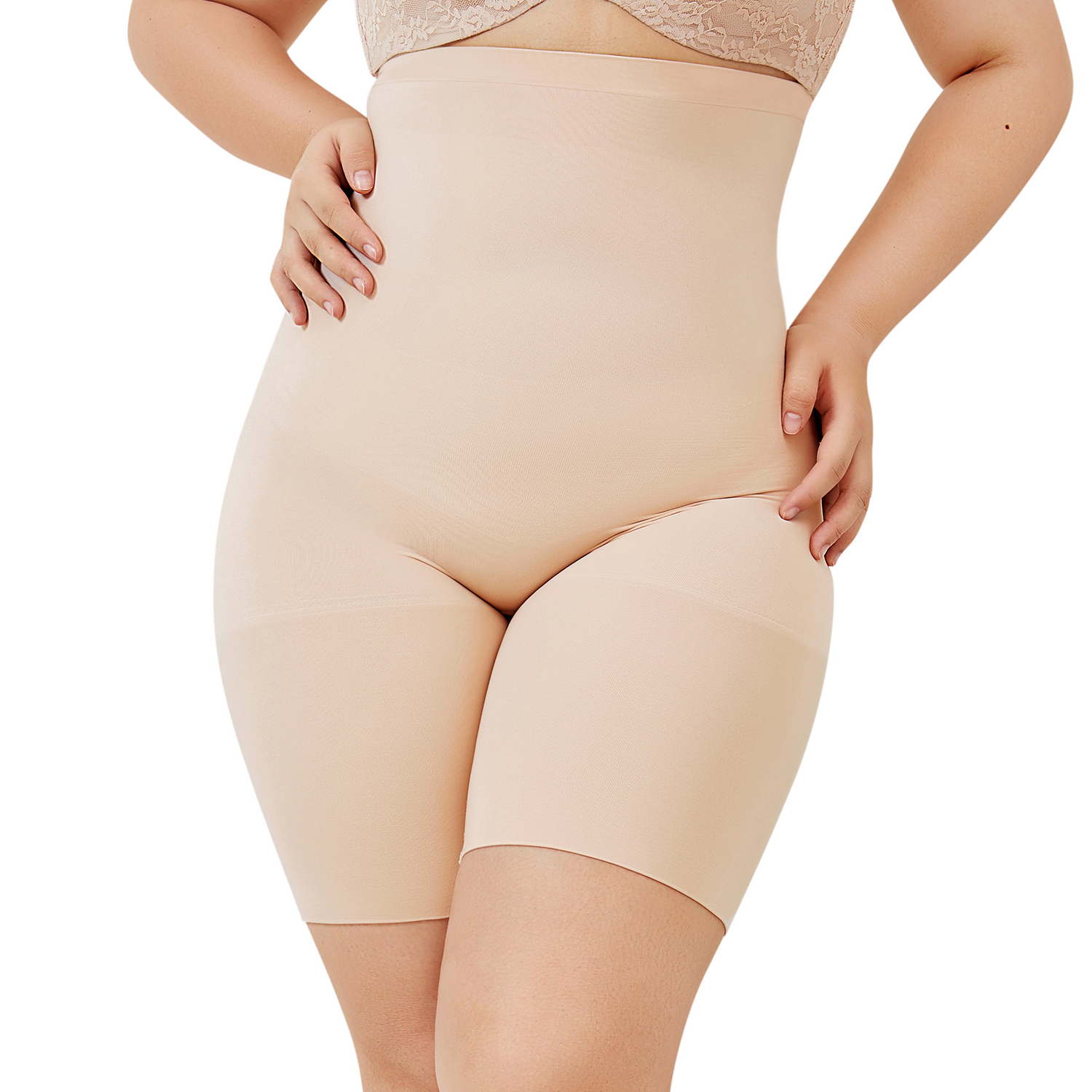 570b1739df Detail Feedback Questions about Women s Plus Size High Waist Seamless  Control Panties Shapewear Thigh Slimmer on Aliexpress.com