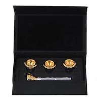 SALES 5 xSilver Trompet Mondstuk met Golden 4 Maten Convertible 7c 5c 3c 1c
