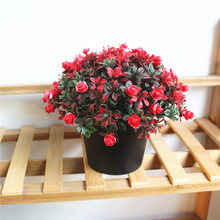 Simulation Potted Plants (with Basin) Artificial Flowers Plastic Plant Wholesale