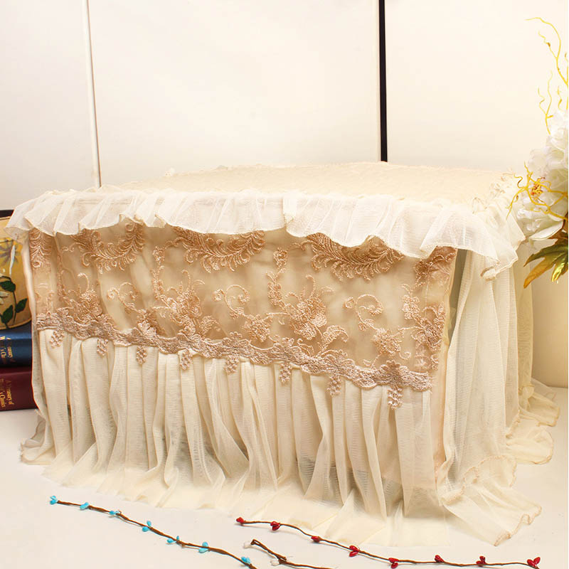Embroidery Lace Microwave Oven Hood Grease Proofing 1 PC Home Decor Dust Covers Waterproof Microwave Cover Kitchen Accessories