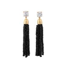 Joolim Jewelry Wholesale/5 Colors Dramatic Quality Handmade Bead Tassel Dangle Earring Maxi Earring Bijoux JC Bead Earring