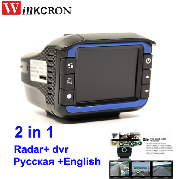 Car DVR 2 In 1 Radar Detector 2.4 TFT Russian English version Dash Camera 150 degree lens tachograph Traffic warnin device цена