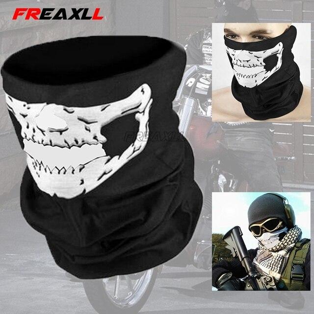 Motorcycle CS Ghost Skull Hood Full Face Mask Ski Sport Helmet Biker Motorcycle Half Face Mask Neck Scarf Headwear