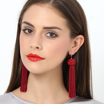 4 Design Bohemia Long Tassels Drop Earrings 1