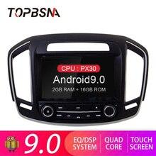 купить TOPBSNA Android 9.0 Car DVD Player For Opel Insignia/Vauxhall Holden 2014 GPS Navi USB WIFI RDS Mirror-link Bluetooth 2G+16G AUX по цене 19162.9 рублей