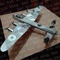 Avro Lancaster 3D Головоломки Классические DIY Металлик Nano Головоломки Модель Дети Обучающие Игрушки самолет подарок 3D ластер Вырезать бомбардировщика lancaster