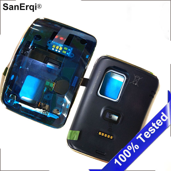 Black Back Cover Housing Replacement Door Rear Battery Cover For Samsung Gear S SM-R750 R750 SmartWatch + Gift