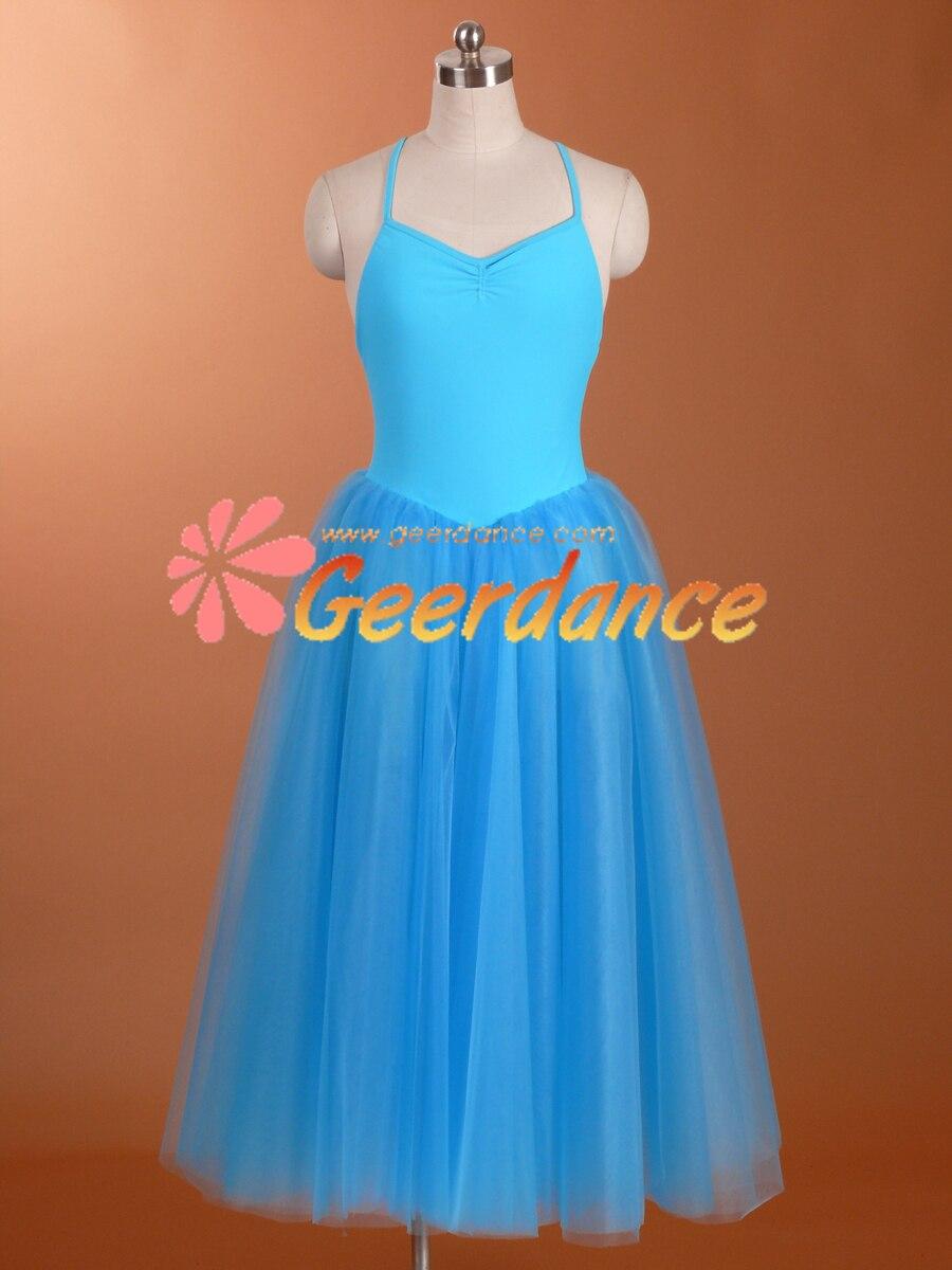 soft tulle child adult classical blue plain ballet giselle romantic ...