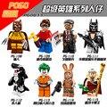 Figuras individuais Legoe 71017 Batman Série Coelho Cenoura Banana Tipo Homem Pinguim Série Páscoa 7 Tijolos de Construção Brinquedos Para As Crianças