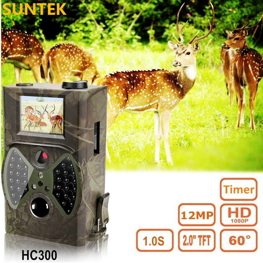 HC300A Hunting Camera Infrared 12MP HD 940NM Wildlife Night Vision Scouting hunter Trail Cam for outdoor hunting wildlife digital 940nm hunting camera invisible infrared 12mp scouting trail camera 2 4 lcd hunter cam s660