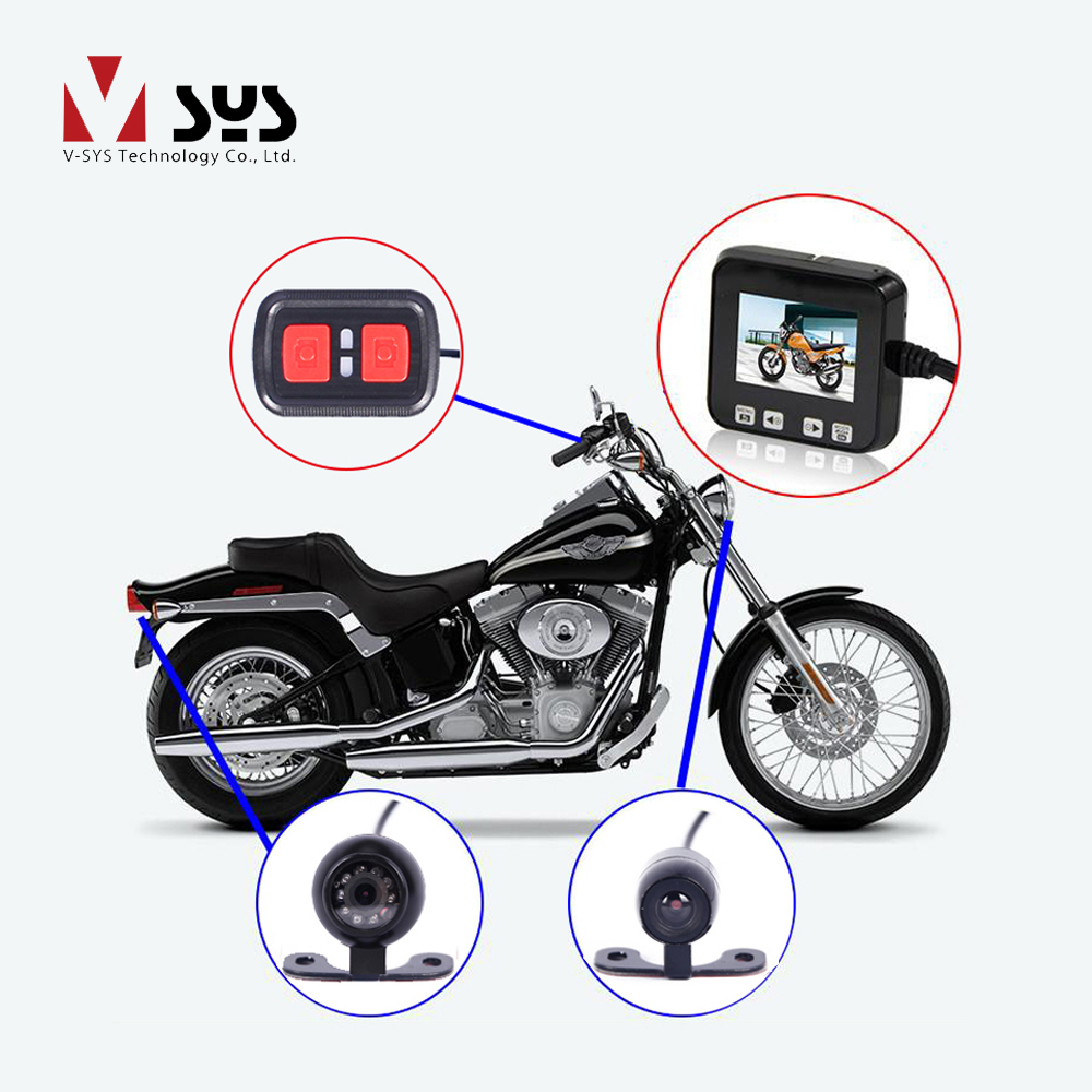 VSYS C6 Dual Waterproof Front & Rear View Motorcycle Dash Cam Bike Camera Recorder Motorcycle DVR, G-sensor GPS Night Vision vsys motorcycle dvr 3 0 x2 upgrade m2f wifi real fhd dual 1080p motorcycle camera dash cam front