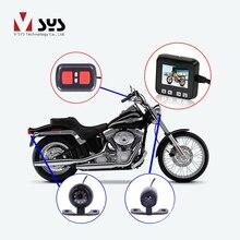 VSYS C6 Dual Waterproof Front & Rear View Motorcycle Dash Cam Bike Camera Recorder Motorcycle DVR, G-sensor GPS Night Vision